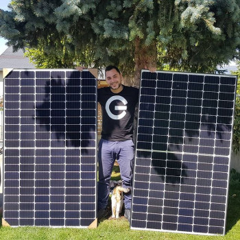 J'ai reçu mes panneaux solaires, 2x350w !