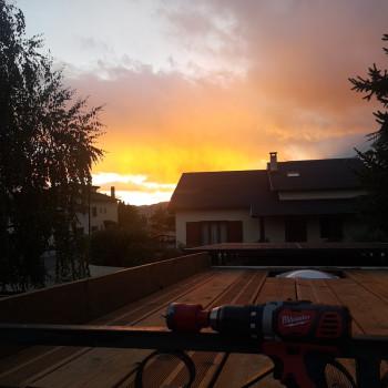 Superbe vue depuis le toit du fourgon